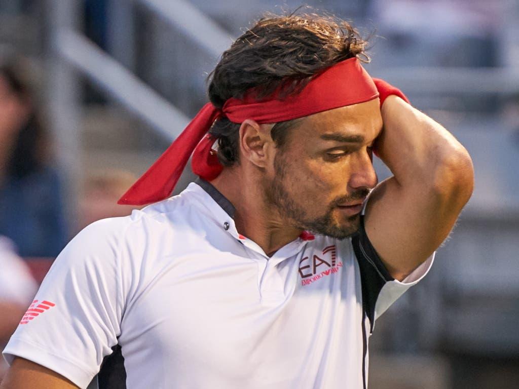 Fabio Fognini (ATP 10), die Nummer 1 Italiens, kommt ebenfalls als Top-10-Spieler nach Basel (Bild: KEYSTONE/EPA/VALERIE BLUM)