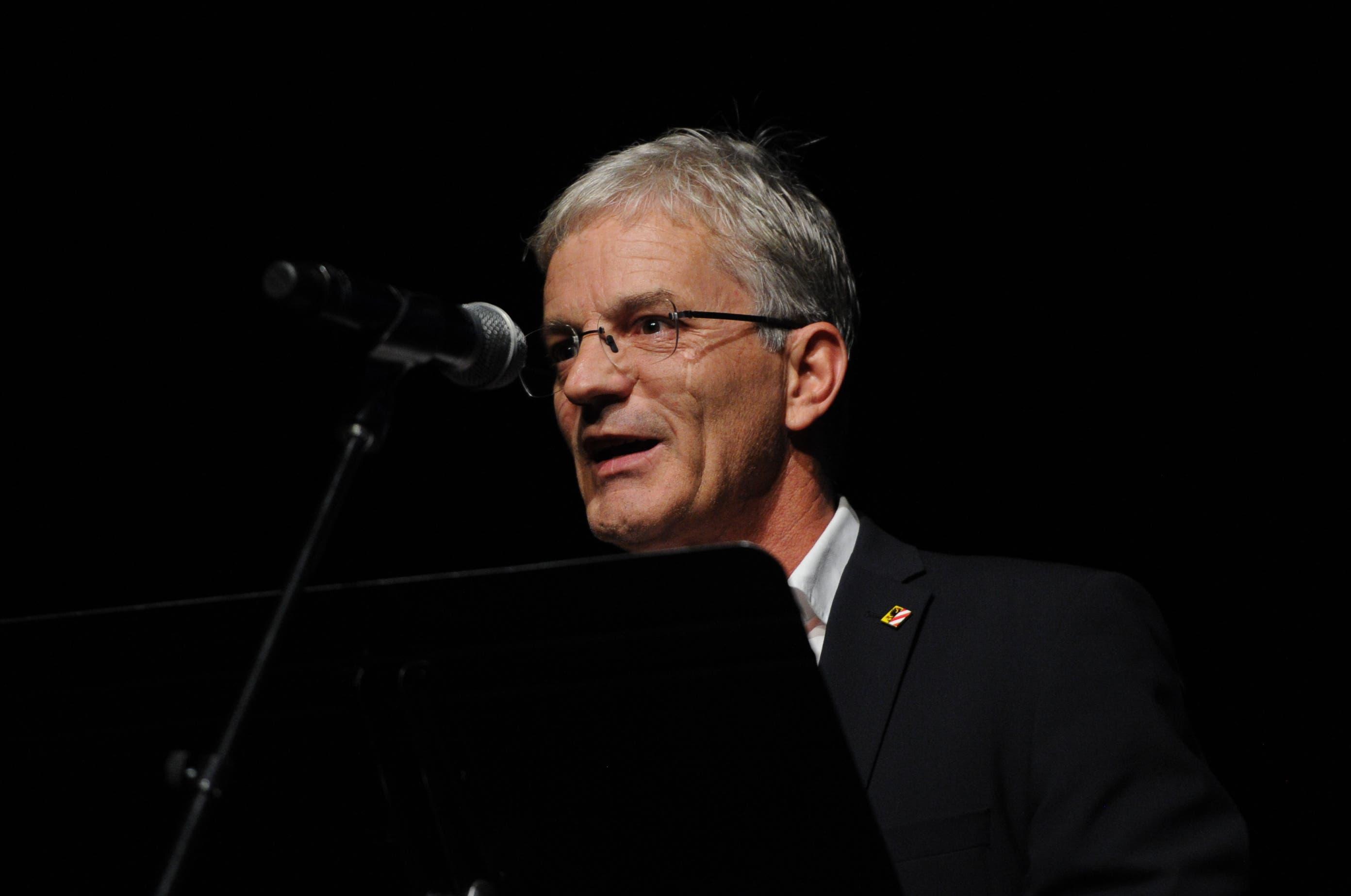 Urs Kälin, Gemeindepräsident Altdorf, begrüsste zum Festival. (Bild: Urs Hanhart)