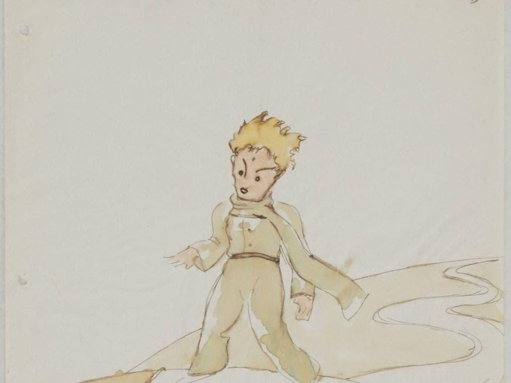 Den kleinen Prinzen und den Fuchs hat der französische Autor Antoine de Saint-Exupéry skizziert, bevor «Le petit prince» und «The Little Prince» 1943 zeitgleich publiziert wurden. Die Skizze ist in einem Winterthurer Altstadthaus gefunden worden. (Bild: Handout SKKG_le petit prince)