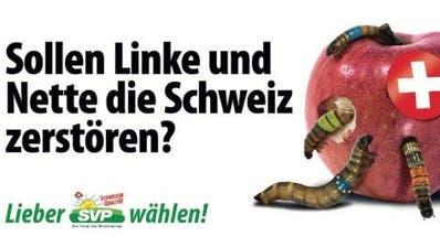 SVP-Apfel-Plakat: Valentin Landmann ist empört und der Obstverband schweigt