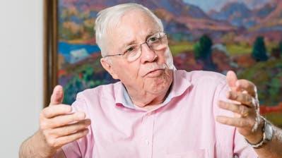 SVP-Doyen Christoph Blocher: «Ihr Auftrag ist, so zu tun, als sei sie eine Gesellschaft von Idealisten. Eine Zivilgesellschaft.» (Bild: Sandra Ardizzone)