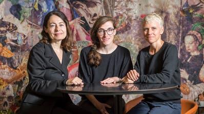 Sandra Meier, Patricia Holder und Karin Karinna Bühler vom Vorstand des Vereins Wyborada verantworten das Literaturhaus. (Bild: Hanspeter Schiess)