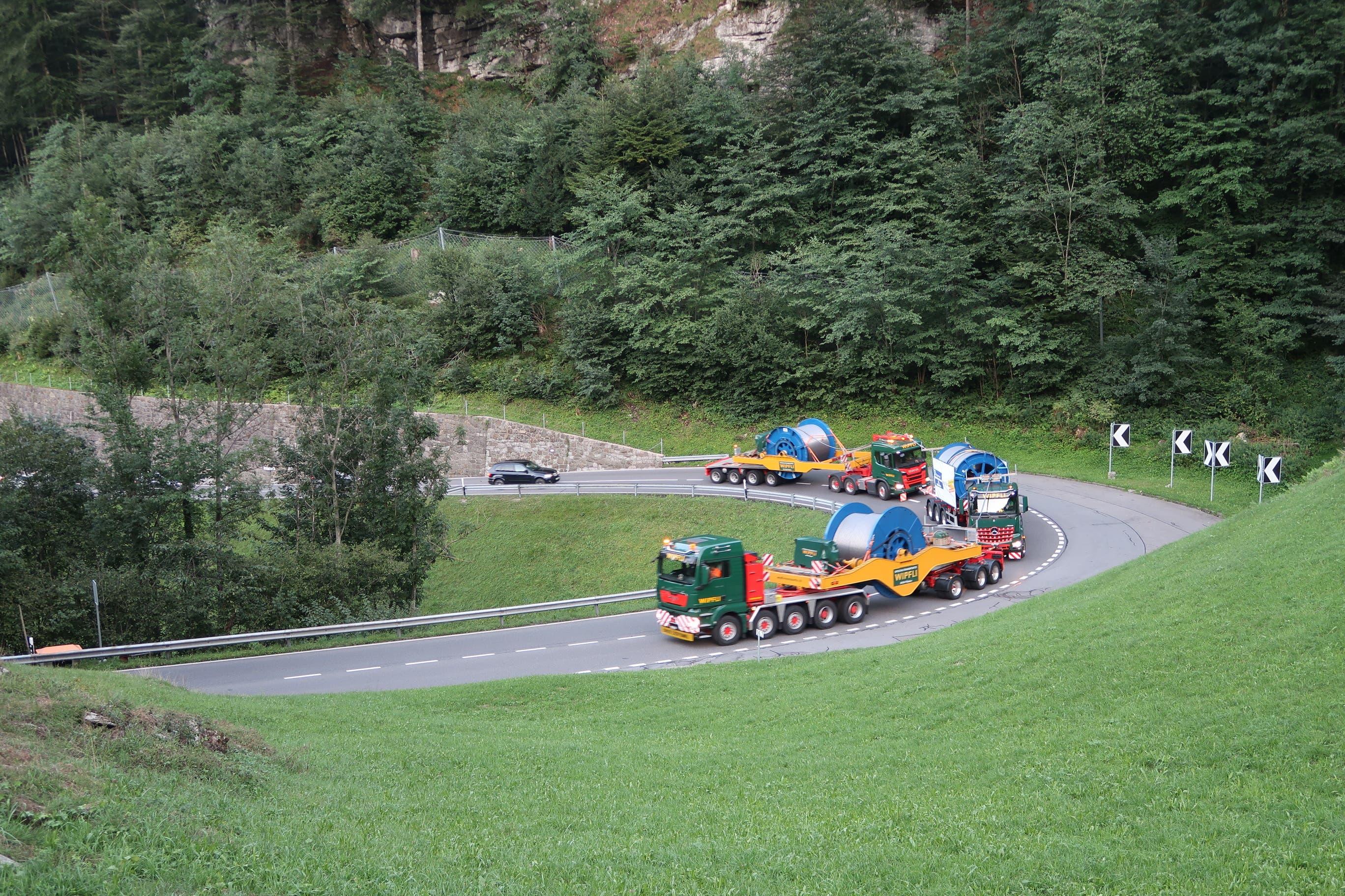 Mit dem Konvoi musste der Brünigpass bezwungen werden. (Bild: Selina Wipfli)
