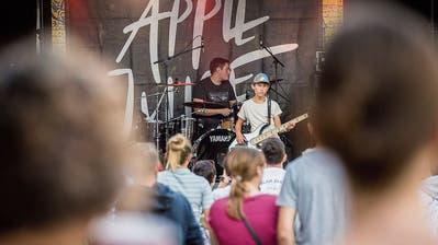 Die Frauenfelder Band Apple Juice India am Freitagabend am Musig i dä Stadt. (Bild: Andrea Stalder)