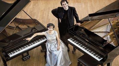 Das Luzerner Klavierduo Soós-Haag sorgt mit viel Virtuosität für anspruchsvollen Musikgenuss. (Bild: PD/Irene Zandel)