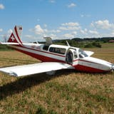 Das verunfallte Kleinflugzeug. (Bild: Kapo TG)
