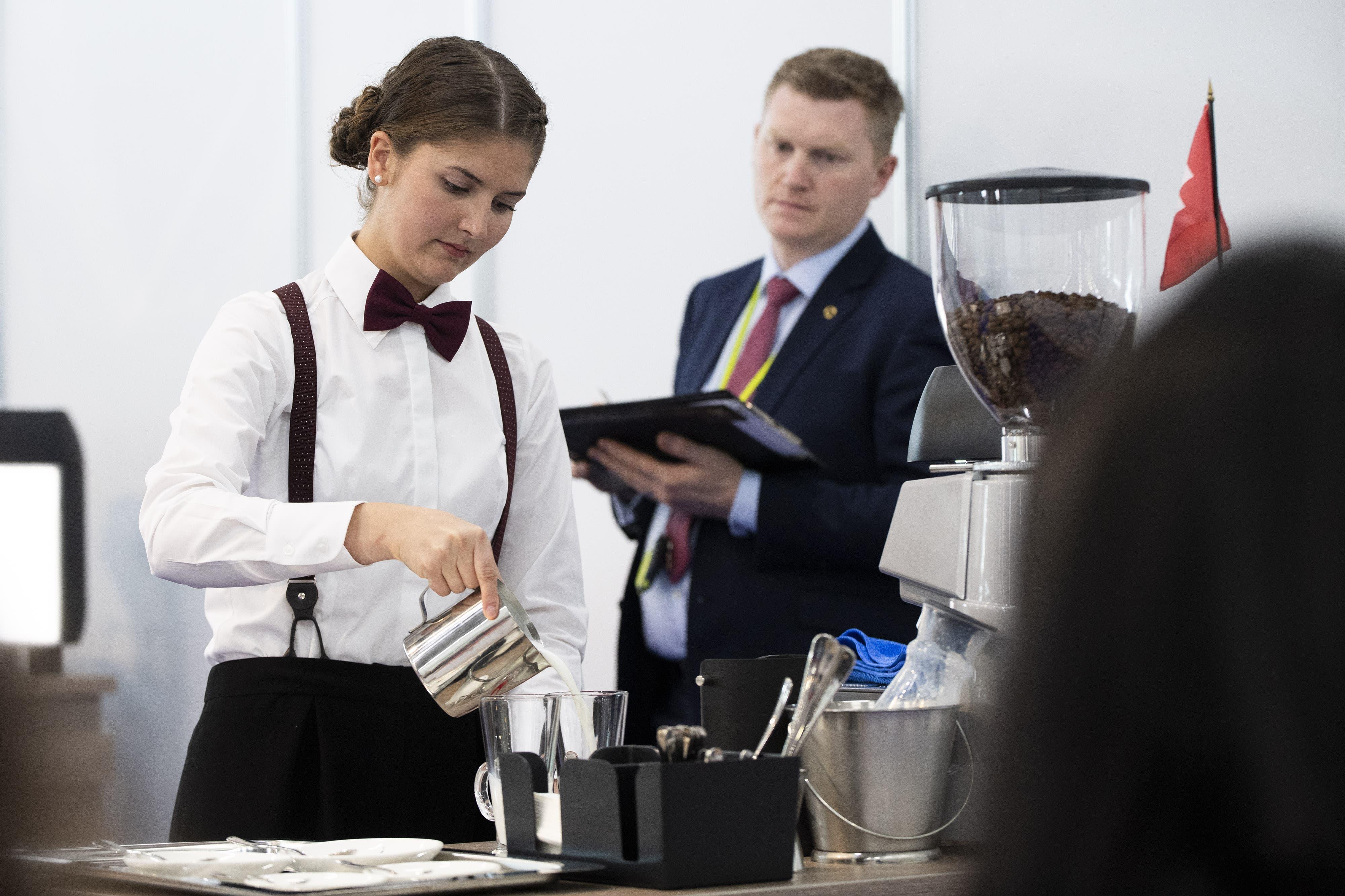 Weltmeisterin: Martina Wick, Restaurationsfachfrau EFZ, aus Arnegg.