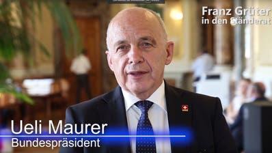 Für Ueli Maurer der richtige Mann für den Ständerat:SVP-Nationalrat Franz Grüter. (Bild: Keystone)