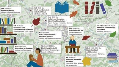 Es wird geblättert: Zwölf Bibliotheken der Region laden zum Kulturgenuss