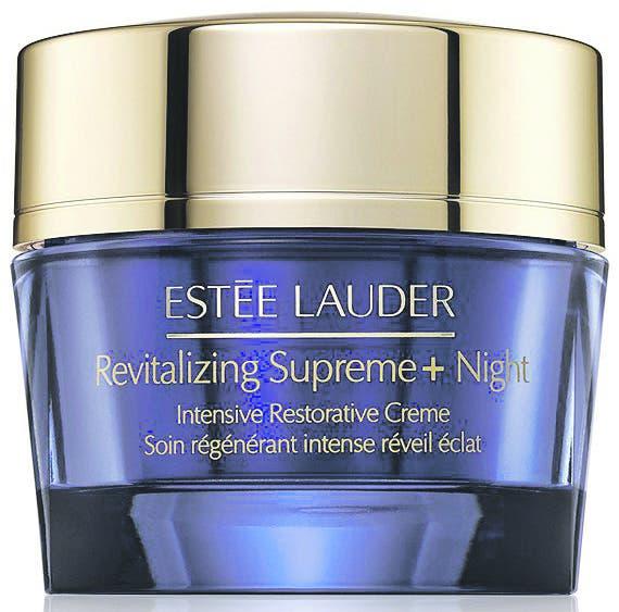 Für reife Haut Die neue Revitalizing Supreme+ Night von Estée Lauder ist sehr nährend und strafft die Haut im Schlaf. Circa 120 Franken