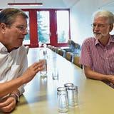 Zwei, die sich gut verstehen: Der Unternehmer Josef Brusa (rechts) und der Buchser Stadtpräsident Daniel Gut. (Bild: Heini Schwendener)