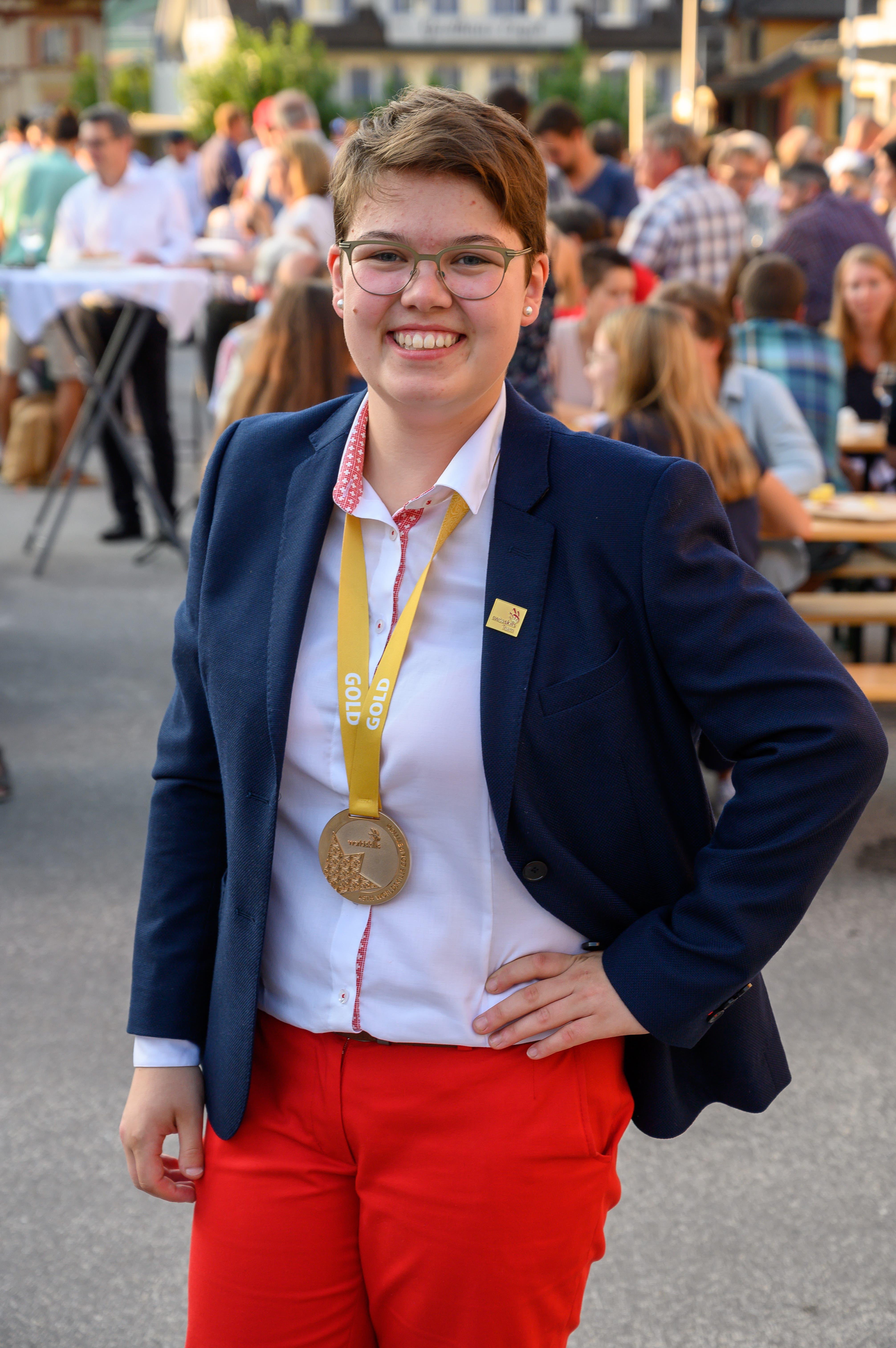 Sonja Durrer aus Kerns gewann Gold als Bäckerin-Konditorin. (Bild: Izedin Arnautovic, 29. August 2019)