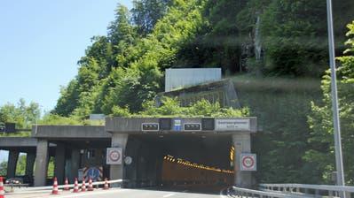 Das Nordportal des Seelisbergtunnels, der am Samstagnachmittag in beide Richtungen gesperrt wurde. (Archivbild LZ)