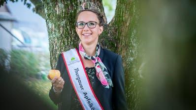 Sechs junge Frauen treten für ihr Amt an: DieApfelkönigin 2018/19, Melanie Maurer. (Bild: Andrea Stalder)