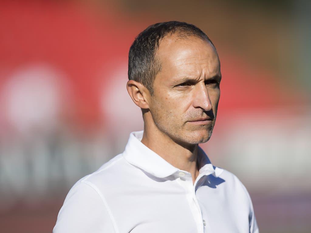 FCL-Coach Thomas Häberli glaubt fest an seine Mannschaft (Bild: KEYSTONE/JEAN-CHRISTOPHE BOTT)