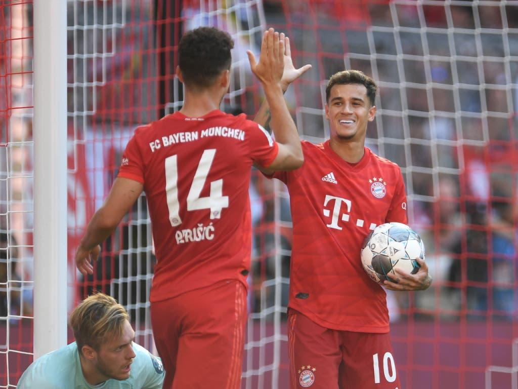 Ivan Perisic und Philippe Coutinho feierten ihr Heimdebüt mit Bayern München (Bild: KEYSTONE/EPA/ANDREAS GEBERT)