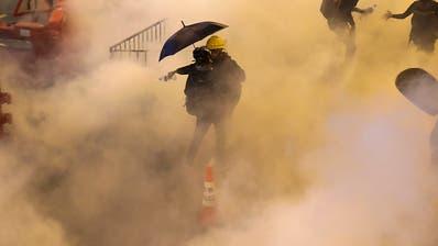 Polizei setzt erneut Tränengas gegen Demonstranten in Hongkong ein
