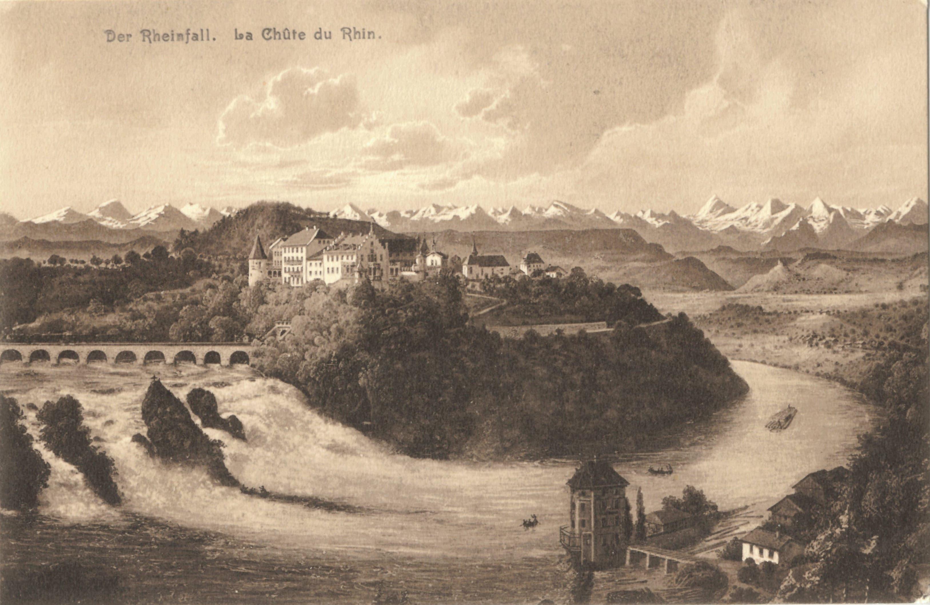 Das Wasser fliesst noch immer: der Rheinfall bei Schaffhausen 1904.