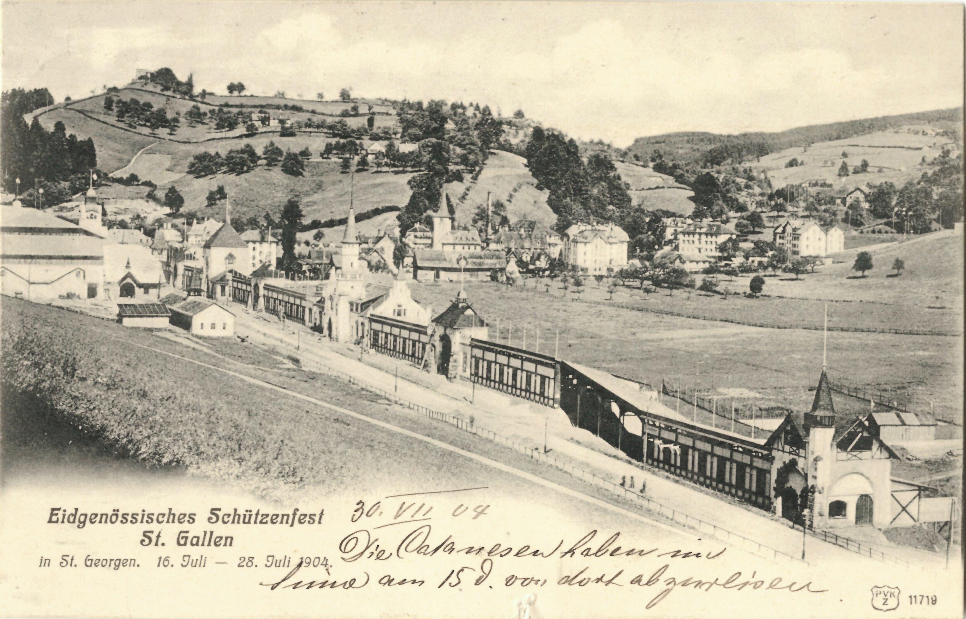 1904 fand in St.Georgen bei St.Gallen das Eidgenössische Schützenfest statt.
