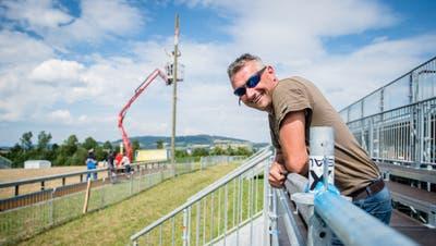 Daniel Kunz auf der Kampfbahn in Knutwil. (Bild: Boris Bürgisser, 5. August 2019)