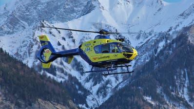 Der Helikopter «Christoph Liechtenstein» der AP3 im Einsatz. (Bild: PD)