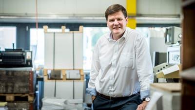 Hansjörg Brunner stellt Druckwaren für einige Tausend Kunden her. (Bild: Andrea Stalder)