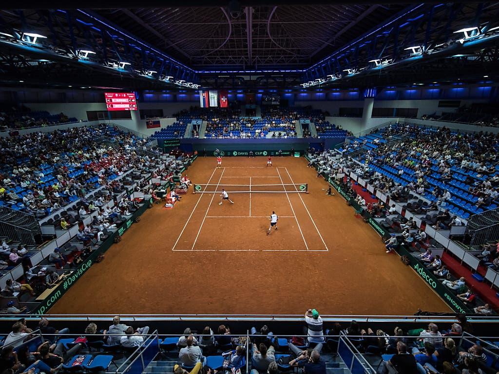 Die Schweiz hat in der AXA-Arena von Bratislava das Nachsehen (Bild: KEYSTONE/EPA/JAKUB GAVLAK)