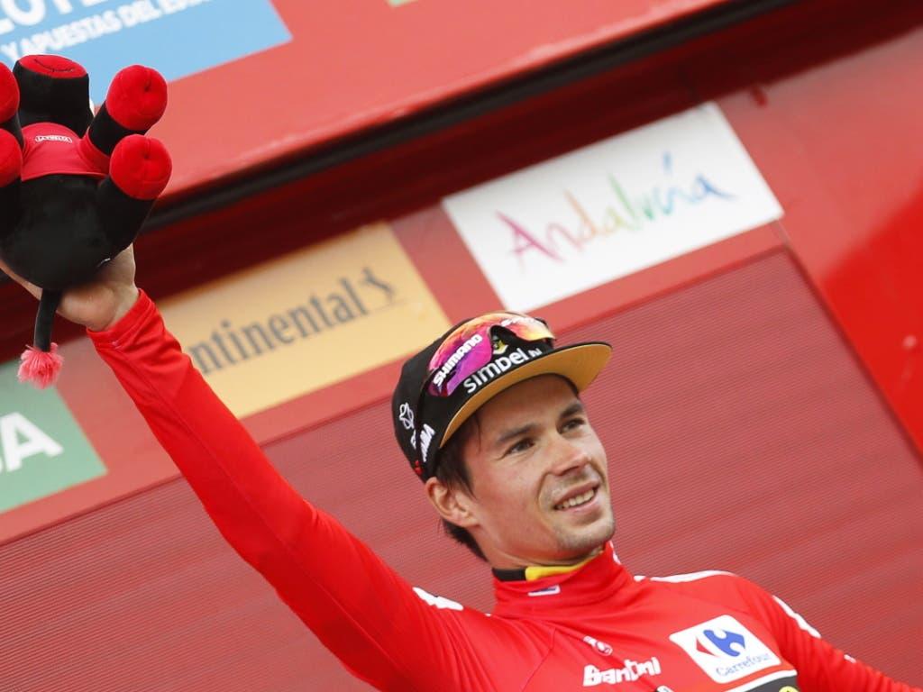Primoz Roglic gewinnt als erster Slowene die Spanien-Rundfahrt (Bild: KEYSTONE/EPA EFE/JAVIER LIZON)