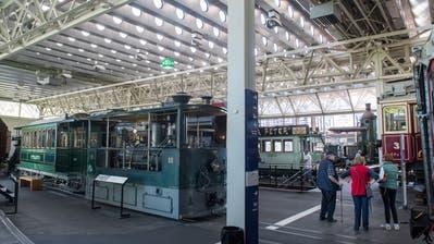 Blick in die Schienenhalle 2+3 im Verkehrshaus. (Bild: Boris Bürgisser, Luzern, 16. September 2019)