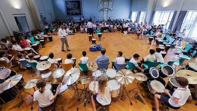 Schlagzeuge und Perkussionsinstrumentestehen dieses Wochenende im Mittelpunkt am Wettspiel in Weinfelden. (Bild: PD)