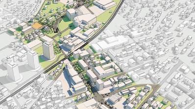 Die Visualisierung des neuen Autobahnanschlusses. (Bild: PD)