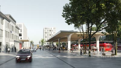 Mit dem neuen Teilzonenplan wird neben den Gleisen der Appenzeller Bahnen im östlichen Teil des Bahnhofs ein achtgeschossiges Gebäude realisierbar. (Visualisierung: PD)