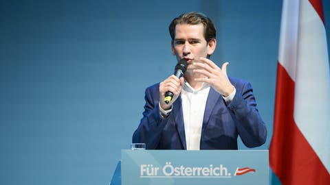 Sebastian Kurz am 14. September am Welser Volksfest. (Bild: Keystone)