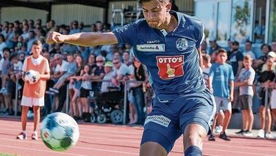 David Mistrafovic im Cup gegen Calcio Kreuzlingen. (Bild: Martin Meienberger/Freshfocus, 18. August 2019)