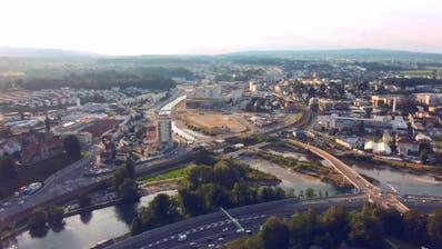 Blick auf das Entwicklungsgebiet Luzern Nord mit dem Seetalplatz im Zentrum. (Bild: Videostill Youtube)