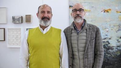 Die Galeristen Jordanis Theodoridis und Werner Widmer. (Bild PD)