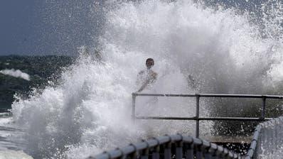 Erste Zeichen des Hurrikans inPonce Inlet, Florida. (Bild: Joe Burbank/Orlando Sentinel via AP)