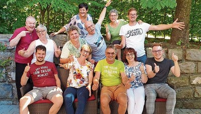 Aktive Spielerinnen und Spieler am Probenweekend im Bregenzer Wald. (Bild: pd)