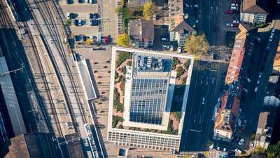 Heutige FHS beim Hauptbahnhof St.Gallen - neben Buchs und Rapperswil einer der drei Standorte der neuen Fachhochschule Ost. (Bild: Urs Bucher)