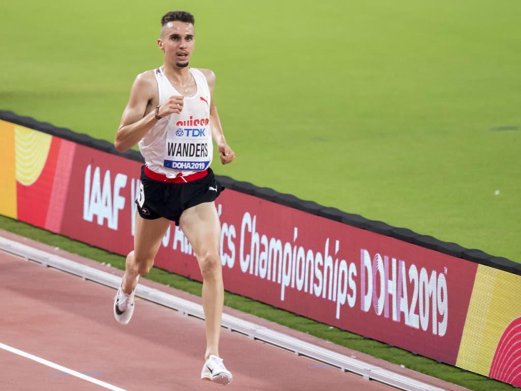 Julien Wanders war über 5000 m chancenlos (Bild: KEYSTONE/JEAN-CHRISTOPHE BOTT)