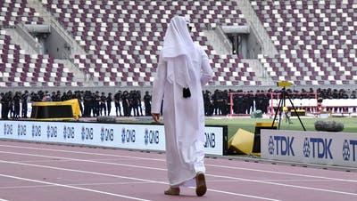Die Leichtathletik-Weltmeisterschaften im Khalifa-Stadion von Doha sind ein weiteres Prestigeprojekt der Katarer. (Bild: Martin Meissner/AP Photo, Doha, 25.9.2019)
