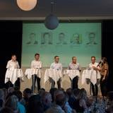 Mitten im Wahlkampf: Die fünf Kandidaten am Tagblatt-Podium. (Archivbild: Lisa Jenny)