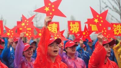 Schon im Vorfeld des 1. Oktober feiern die Chinesen den runden Geburtstag ihres Landes. (Bild: AFP, Hangzhou, 15. September 2019)