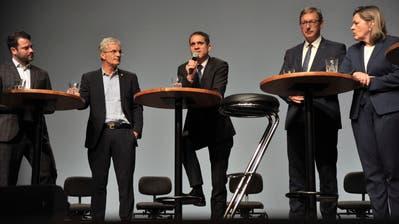 Die Kandidaten gaben ihre Ansichten zu Klima und Gesundheit preis. (Bild: Urs Hanhart, Altdorf, 26. September 2019)