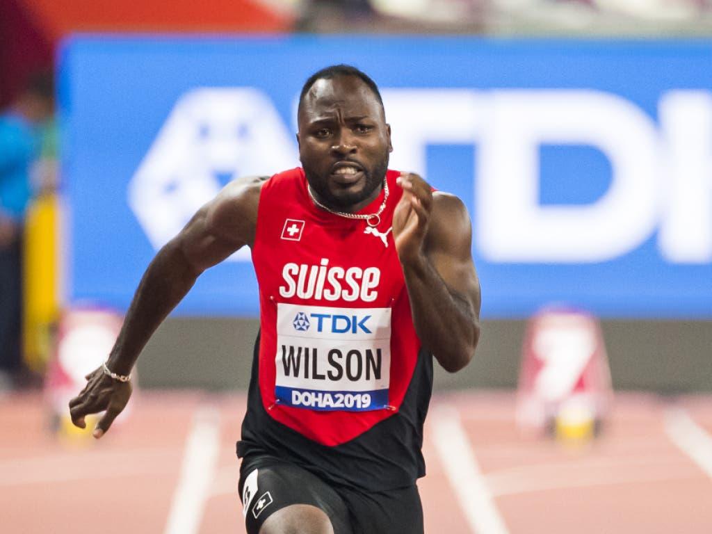 Alex Wilson kämpfte über 100 m mit Motivationsproblemen (Bild: KEYSTONE/JEAN-CHRISTOPHE BOTT)
