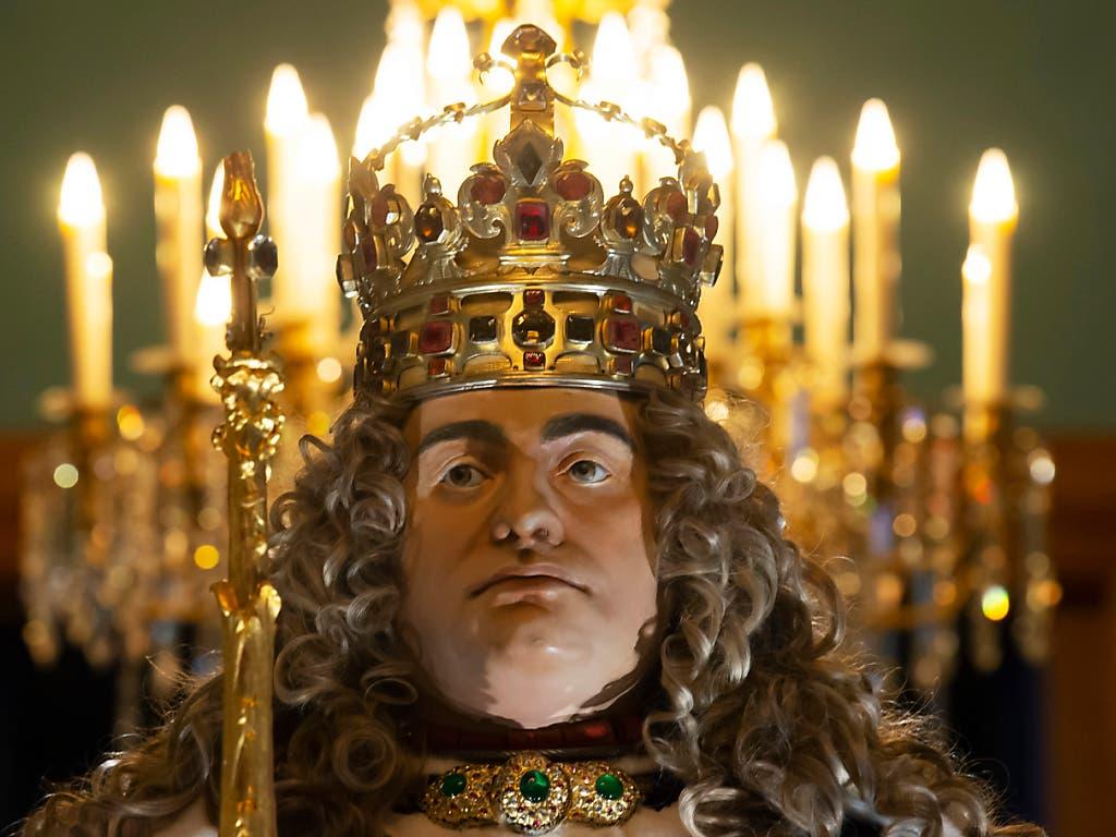Krönungsfigur von August dem Starken, Kurfürst von Sachsen und König von Polen-Litauen ab 1697. (Bild: KEYSTONE/AP/JENS MEYER)