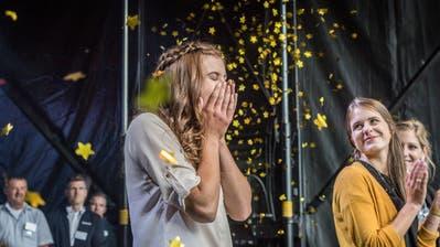 Die neue Apfelkönigin heisst Larissa Häberli. (Bild: Andrea Stalder)