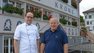 Walter Höhener und Walter Nef von der Krone Immobilien AG. (Bild: Karin Erni)