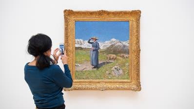 «Mezzogiorno sulle alpi» von Giovanni Segantini. (Bild: Urs Bucher)