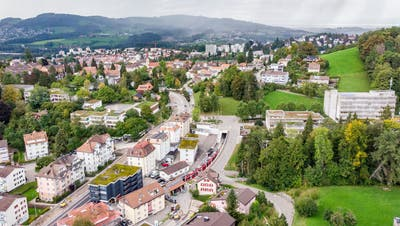Die über einen halben Kilometer lange Baustelle wird das Erscheinungsbild des Quartiers Riethüsli verändern. Und vielleicht auch seinen Charakter. (Bild: Urs Bucher)